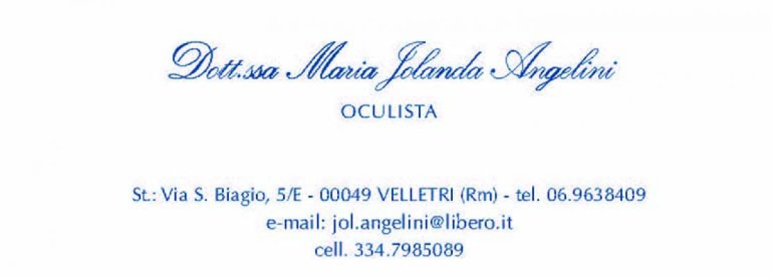 Dott.ssa Angelini Maria Jolanda